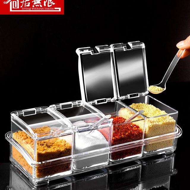 [해외] 주방 용품 보관 유물 다기능 소금 설탕 향신료