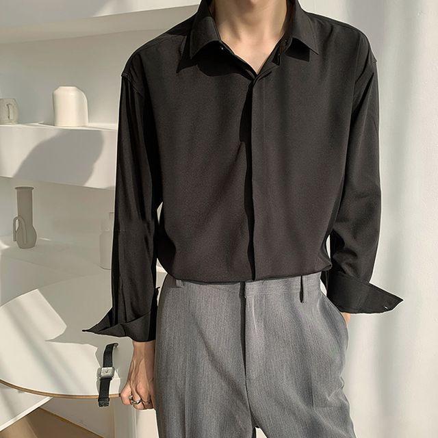 W 렌쉬 남성 기본 셔츠 SH-210317