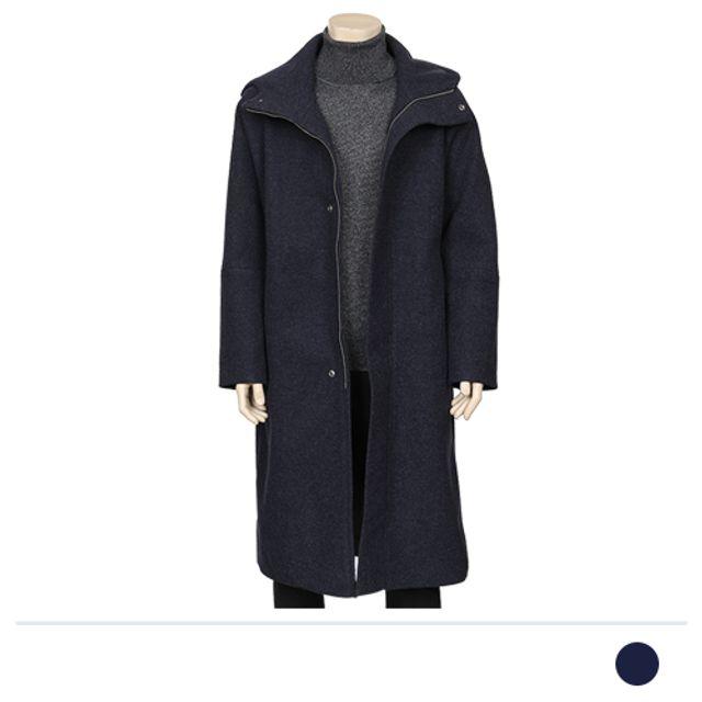 템스 후드 롱코트-네이비 리즈코 맨도매 남자옷도매 겨울 아우터 맨즈도매 남성
