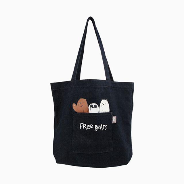 위베어베어스 캔버스백 에코백 베이비베어스 간편가방