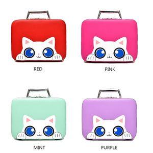귀여운 고양이 캐릭터 휴대 화장품 파우치