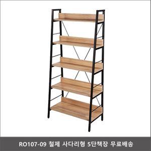 RO107-09 철제 사다리형 5단책장