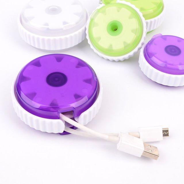 휴대용 원형 케이블 정리 케이스 이어폰케이스