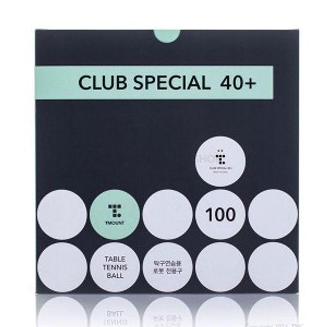 티마운트 클럽 스페셜 2성 탁구공40 100개입 탁구로봇
