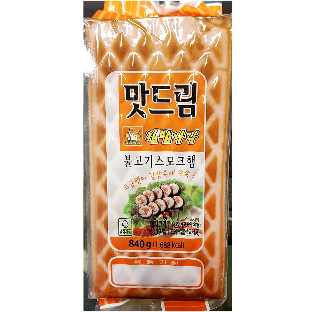 간편 즉석 조리식품 불고기스모크햄 840g X 20_1 EA,김밥용세절햄,햄,간식,안주,세절햄