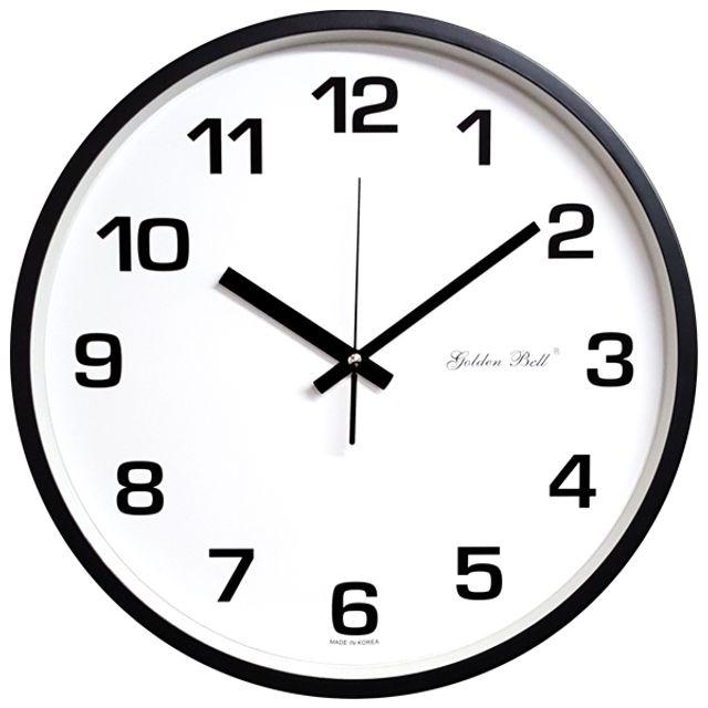 韩国GB 4599梅子淡绿色时钟36.5厘米的黑色