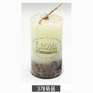 원형 커피향 향초 소(6X10cm) 3개 방향 캔들 인테리어