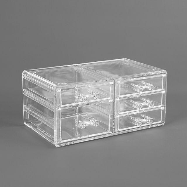 투명 액세서리 보관함 3단5칸 화장품정리 뷰티걸