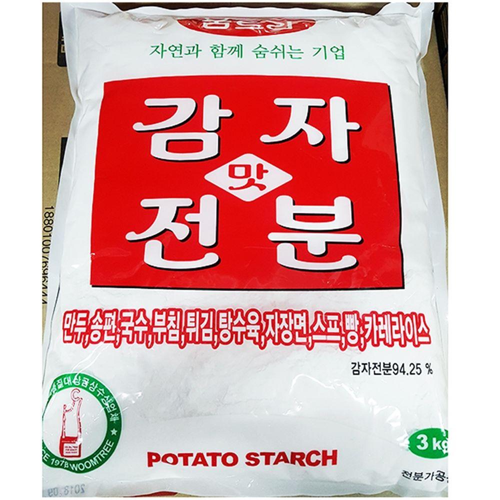식재료 감자전분(움트리 3K),감자전분,식당용감자전분,업소용감자전분,식재료감자전분,식재료