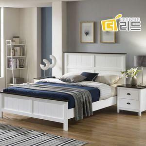슈바 고무나무원목 침대프레임K+협탁