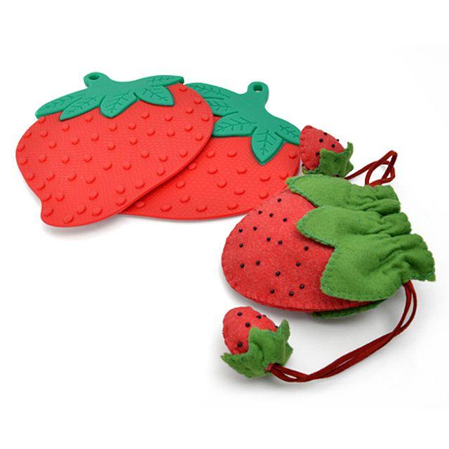 실리콘 냄비받침 딸기 가정잡화 주방용품 실리콘용품 주방도구