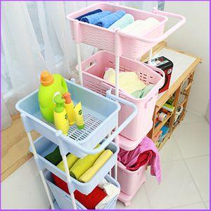 (수납정리함) 세탁바구니 3단 정리함 소품함 수납함 생활용품 정리용품