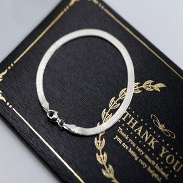 【韩国直邮】蛇皮纹双面925银手链(92.5%)(重量3.9 g)