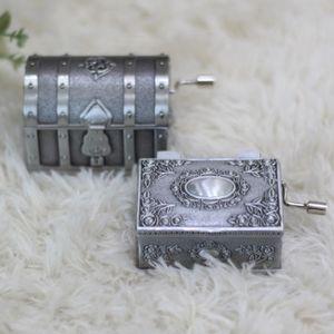 금속 보물상자 수동 오르골 뮤직박스 2type