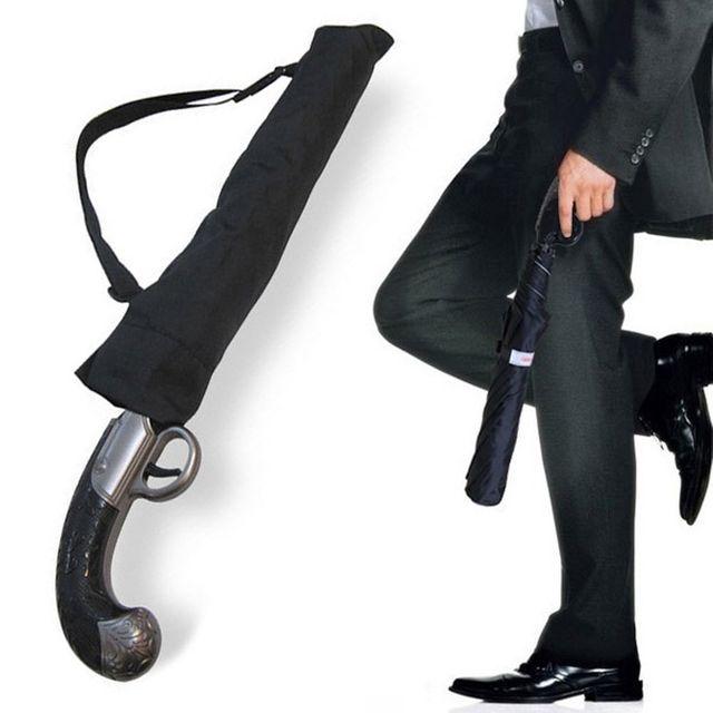 W 건브렐라 총손잡이 자동접이식 우산 자동우산 아