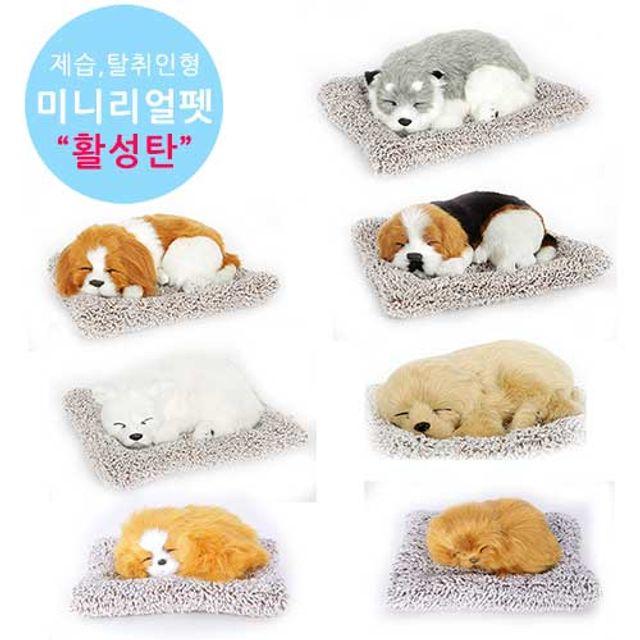 무료배송 미니 강아지 고양이인형 리얼펫 제습탈취인형