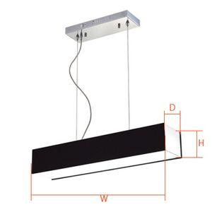 아파트 빌라 아크릴 식탁등 PD 블랙 LED 30W 절전형