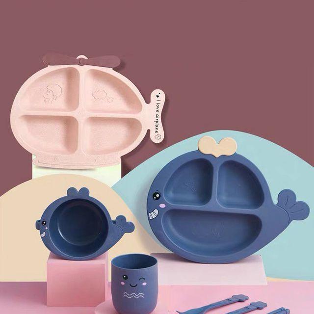 [해외] 주방용품 식판 티 폴 키즈 먹는 식기 세트