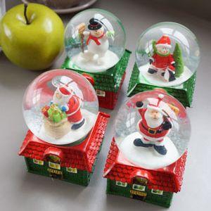 크리스마스 하우스 미니 워터볼 (중) 4P