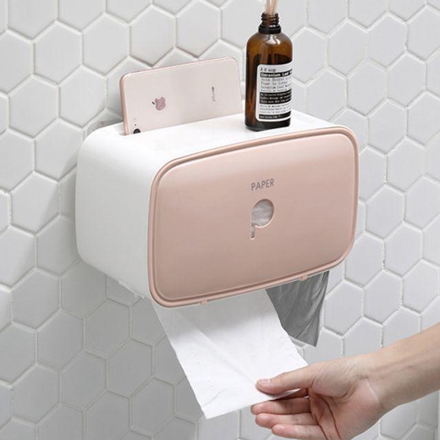 플로키 다용도 화장지걸이 욕실수납형 휴지걸이