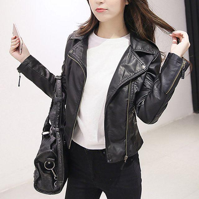 W 가을자켓 여성라이더자켓 숏가죽자켓 다양한코디