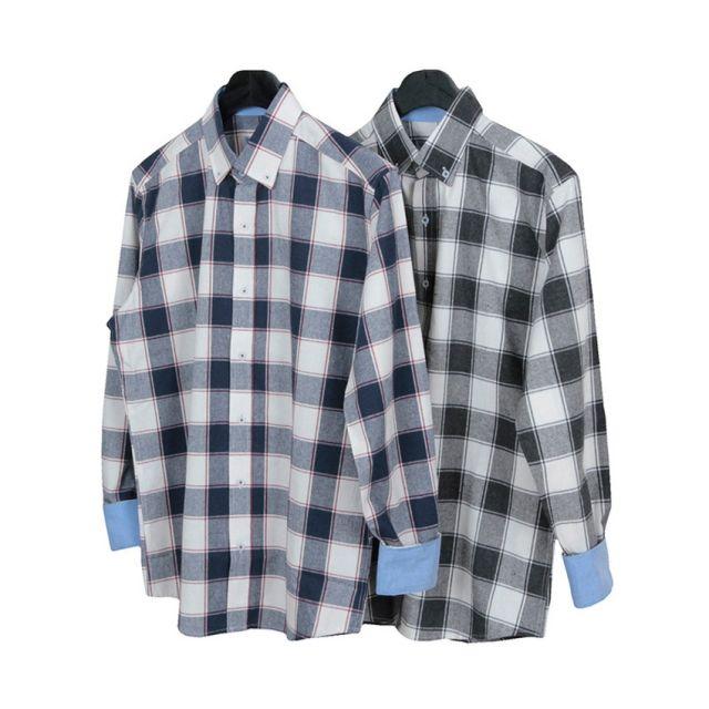 킹스맨 남자셔츠 타탄 체크 무늬 셔츠 J0416016