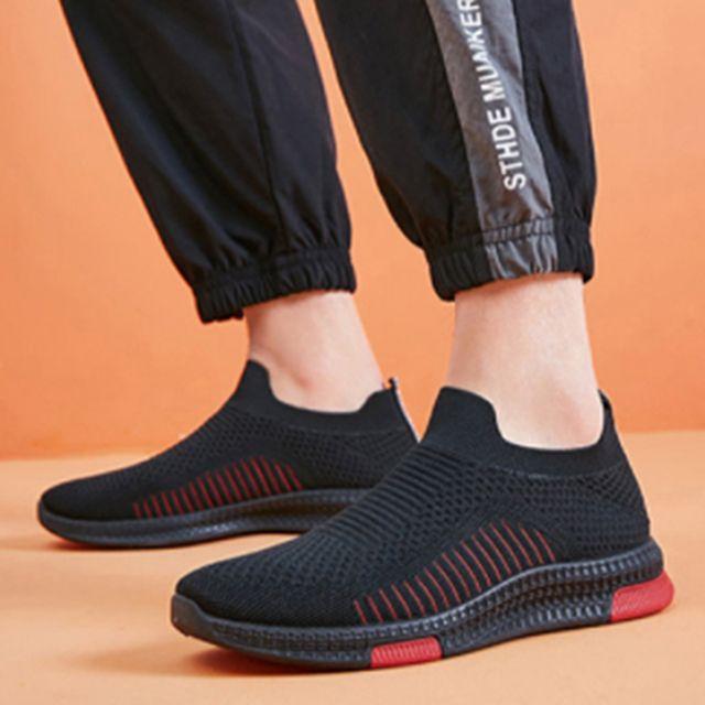 W 남성 니트 신발 가볍고 편한 데일리 패션 운동화