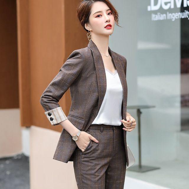 [해외] 여성 패션 재킷 자켓 정장세트 한국어 정장 재킷