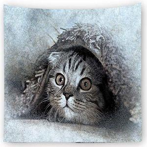 고양이 프린트 벽 꾸미기 가림막 포스터 사이즈 특대