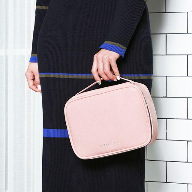 분리형수납 여행용 파우치-핑크 [제작 대량 도매 로고 인쇄 레이저 마킹 각인 나염 실크 uv 포장 공장 문의는 네이뽕]