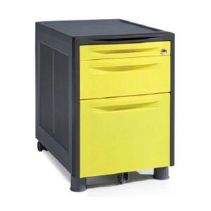 사무실 사무용 책상 수납 서랍장 이동서랍 옐로우