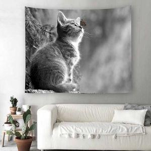 벽 가림막 포스터 나비고양이 인테리어소품 3size