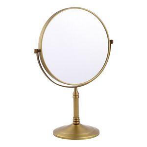 스탠드 양면 화장 거울 청동 탁상 거울 메이크업 회전
