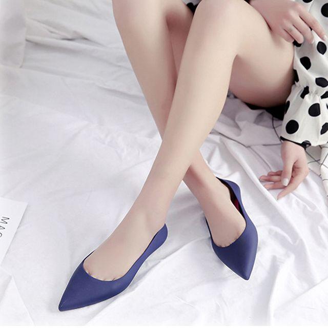 여성 여름 레인 플랫슈즈 젤리슈즈 가벼운 여름신발