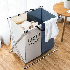 분리가능세탁물보관함 패브릭 빨래바구니 방수 빨래통