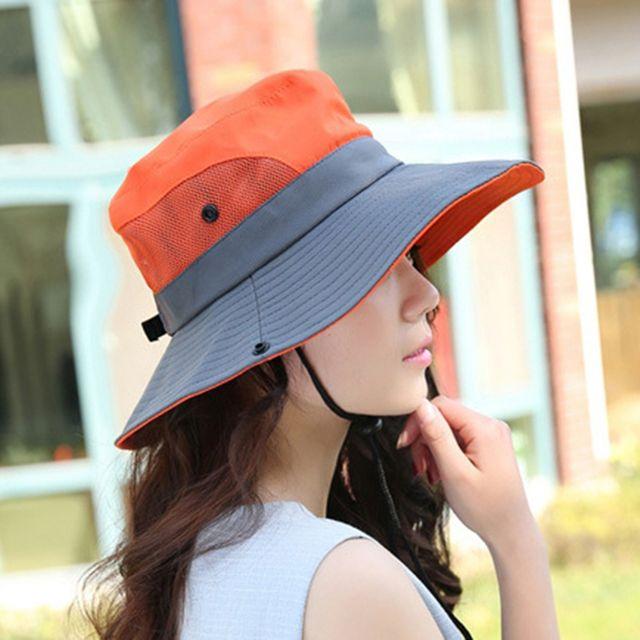 W 여성용 나들이 피크닉 등산용 햇빛 가리개 모자