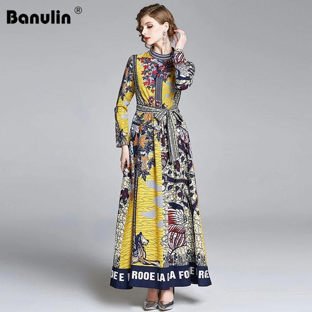 [해외] Banulin Robe Automne Femme 활주로 긴 소매 크리스마