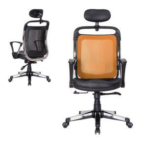사무실 컴퓨터 책상 중역 의자 푹신한 메쉬 등받이