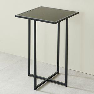 심플라인 강화유리 미니 철제 테이블 400