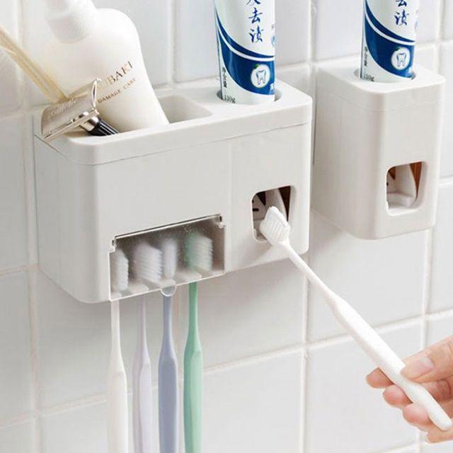 욕실 강력 부착식 멀티 치약짜개 칫솔걸이 다용도꽂이