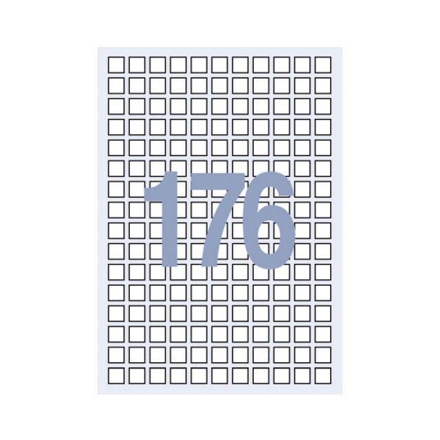 W02C3EE세모네모 라벨지 100매 C-3040 (176칸 1515)