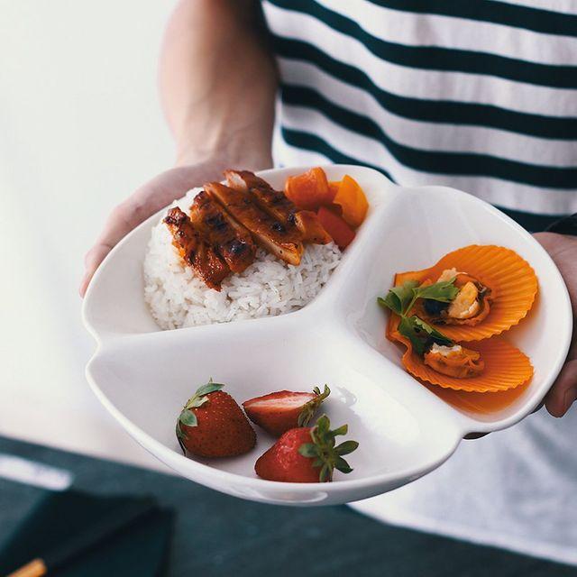 [해외] 주방용품 식판 격자 분판 아침 식사 접시