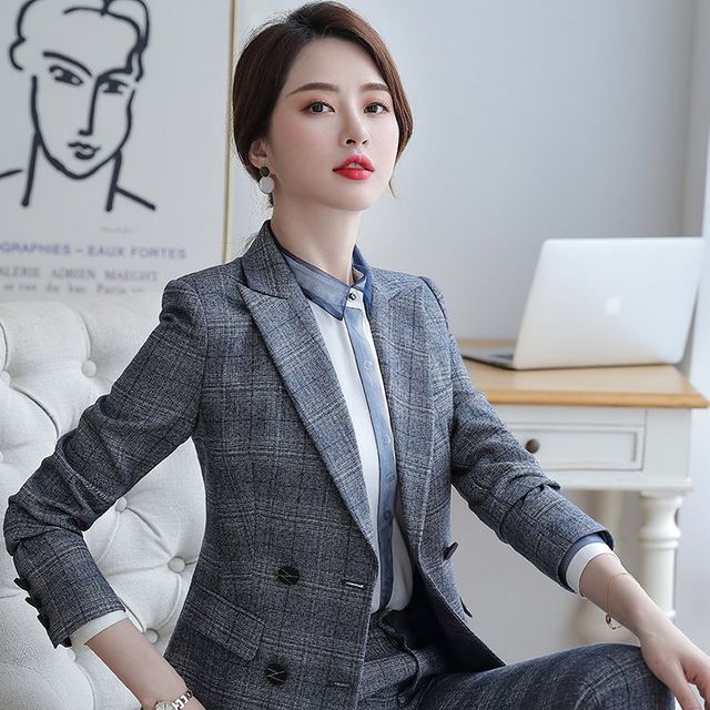 [해외] 여성 패션 재킷 자켓 정장세트 정장 공식 작업복