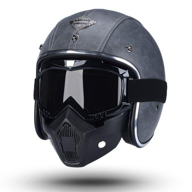 [해외] 할리 레트로 오토바이 헬멧 하프 헬멧