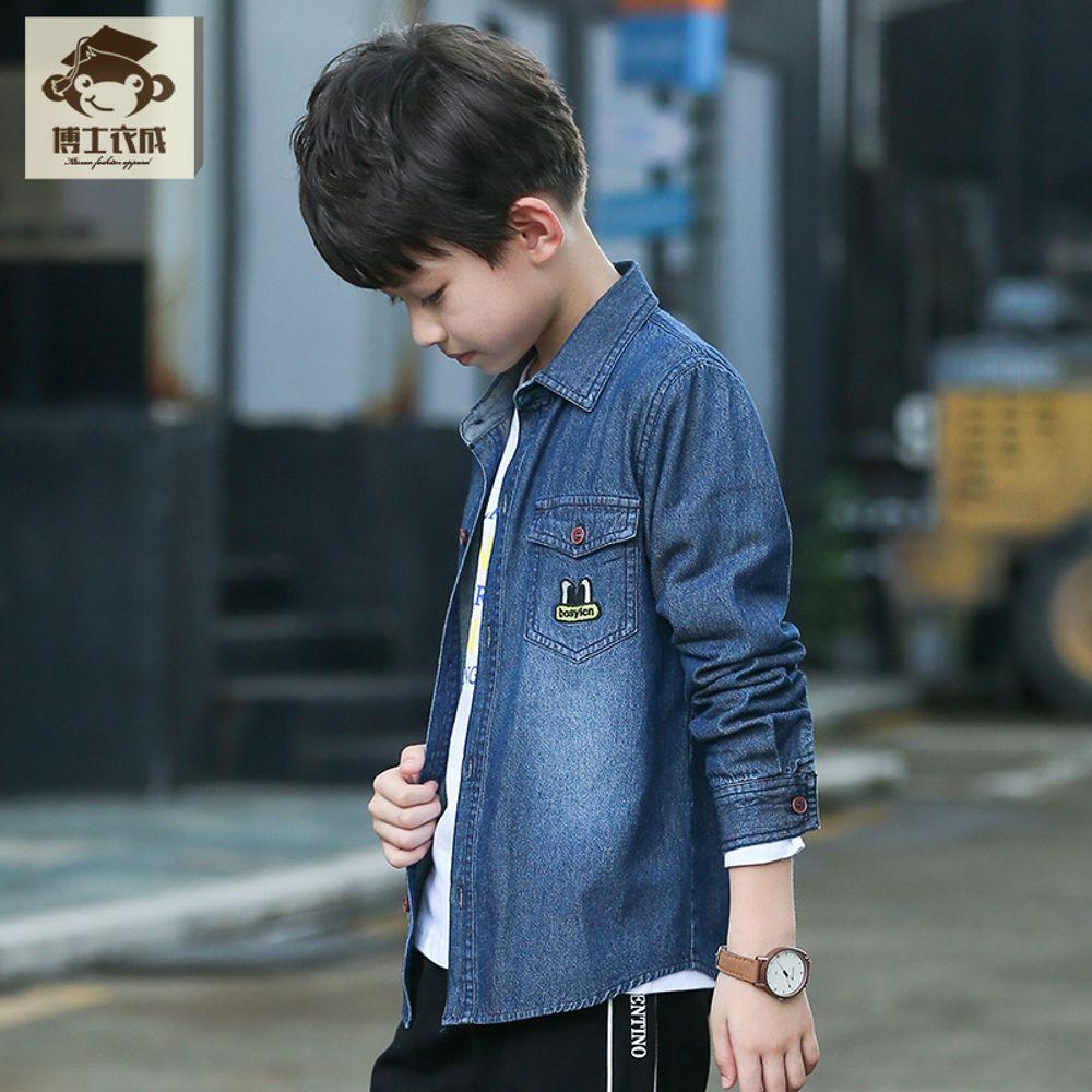 39299701f0b [더산직구]소년 긴소매 셔츠 가을 남아의류 패션 데님셔츠/ 영업일