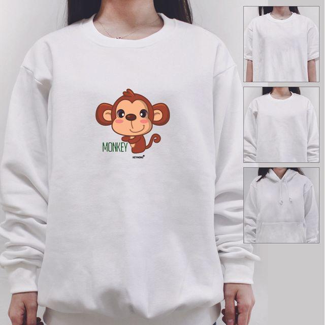 W 키밍 몽키 monkey 여성 남성 티셔츠 후드 맨투맨 반팔