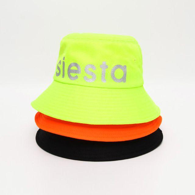 커플 캐주얼 패션 siesta 네온 벙거지 모자 플로피햇