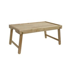 이크홈 원목 손잡이 下 트레이 접이식 침대 테이블