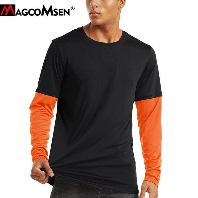 [해외] MAGCOMSEN 여름 자외선 차단 티셔츠 남성 빠른 건조