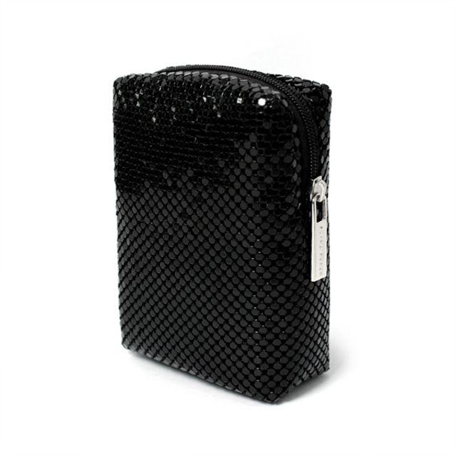 미니 력셔리스타일 박형 파우치-블랙 [제작 대량 도매 로고 인쇄 레이저 마킹 각인 나염 실크 uv 포장 공장 문의는 네이뽕]